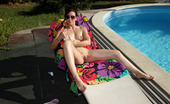 ALS Angels 568562 Euro Brunette Minnie Manga Shows Toned Body By Pool ALS Angels