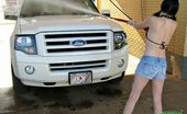 Young Stacey Insidious Brunette Teen Babe Stacey Washing A Car In Her Tiny Jeans Panties Young Stacey