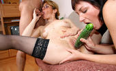 Veggy Mature Orgies Hugest Cucumber Stuck In Cunt Veggy Mature Orgies