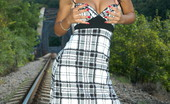 Outdoor Pornstars Angel Dark Angel Dark Toying Her Wet Cunt On A Railway Track Outdoor Pornstars