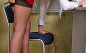 Planet High Heels 571466 Garter Belt, Stockings And High Heels - Secretary'S Uniform! Planet High Heels