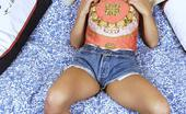 Nadia's Blue Movies Andrea 'Nadia' Spinks In Denim Shorts And Putting A Dildo In Her Arse!