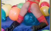 MP Balloons Black Hottie Hugging And Grabbing Balloons