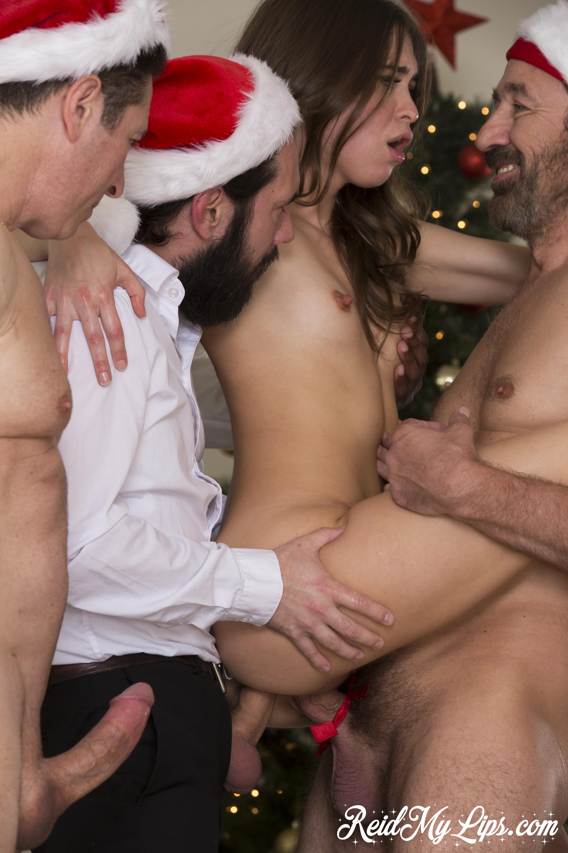 Miss Santa Riley Reid Gangbang On Christmas Day 608074 Red Hot Pornstar Sliding Down Silky Robe