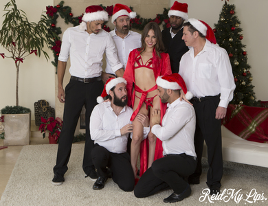 Miss Santa Riley Reid Gangbang On Christmas Day 608074 Red Hot Pornstar Sliding Down Silky Robe