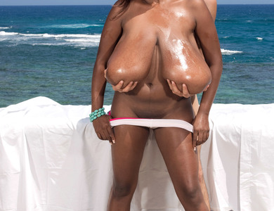 Miosotis Has Some Of The World Gigantic Titties 608079 Black Woman Oils Up Her Juggs And Rides Cock At The Cliff