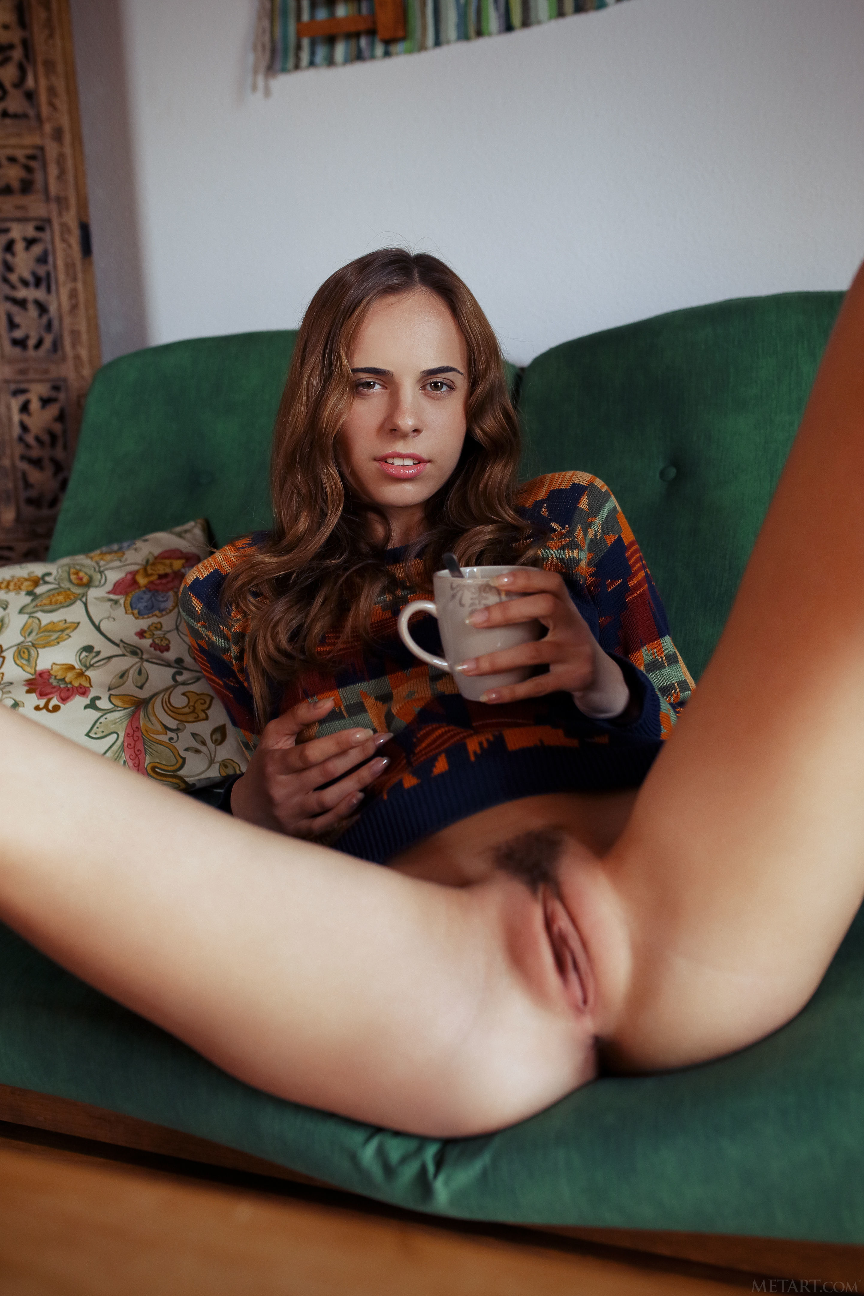Gracie Brica Hippie Sliding Down Blue Jeans 608088 Young Adult Demonstrate Swallow Twat