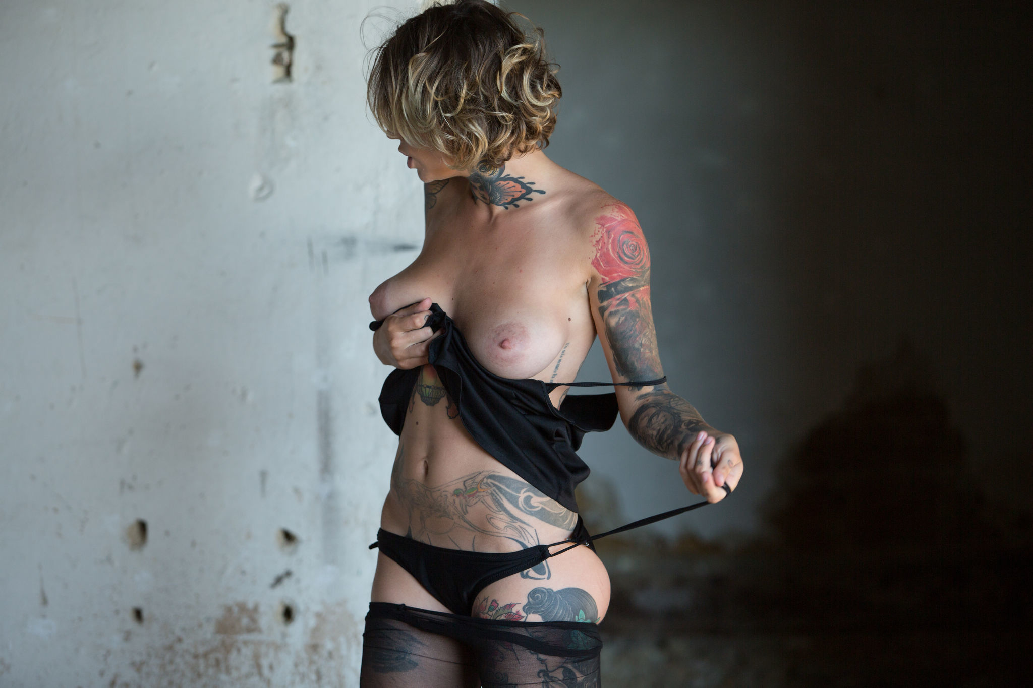 Stacy Cloud Showing Nude Tattoo Body In Loneliness Setting 608095 Softcore model Stacy torn pantyhouse and reveal nice shaved pussy