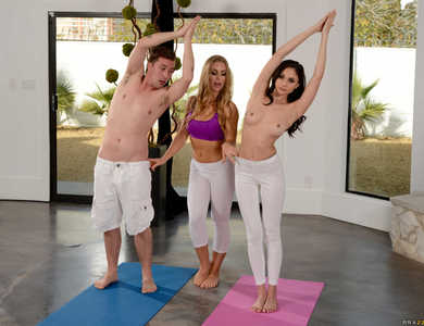 Two Sizzling Yoga Instructors Having Naughty Classes With Male Student 608098 Erotic Scenes Of Flexible Gymnastics Hotties Fucking And Sucking