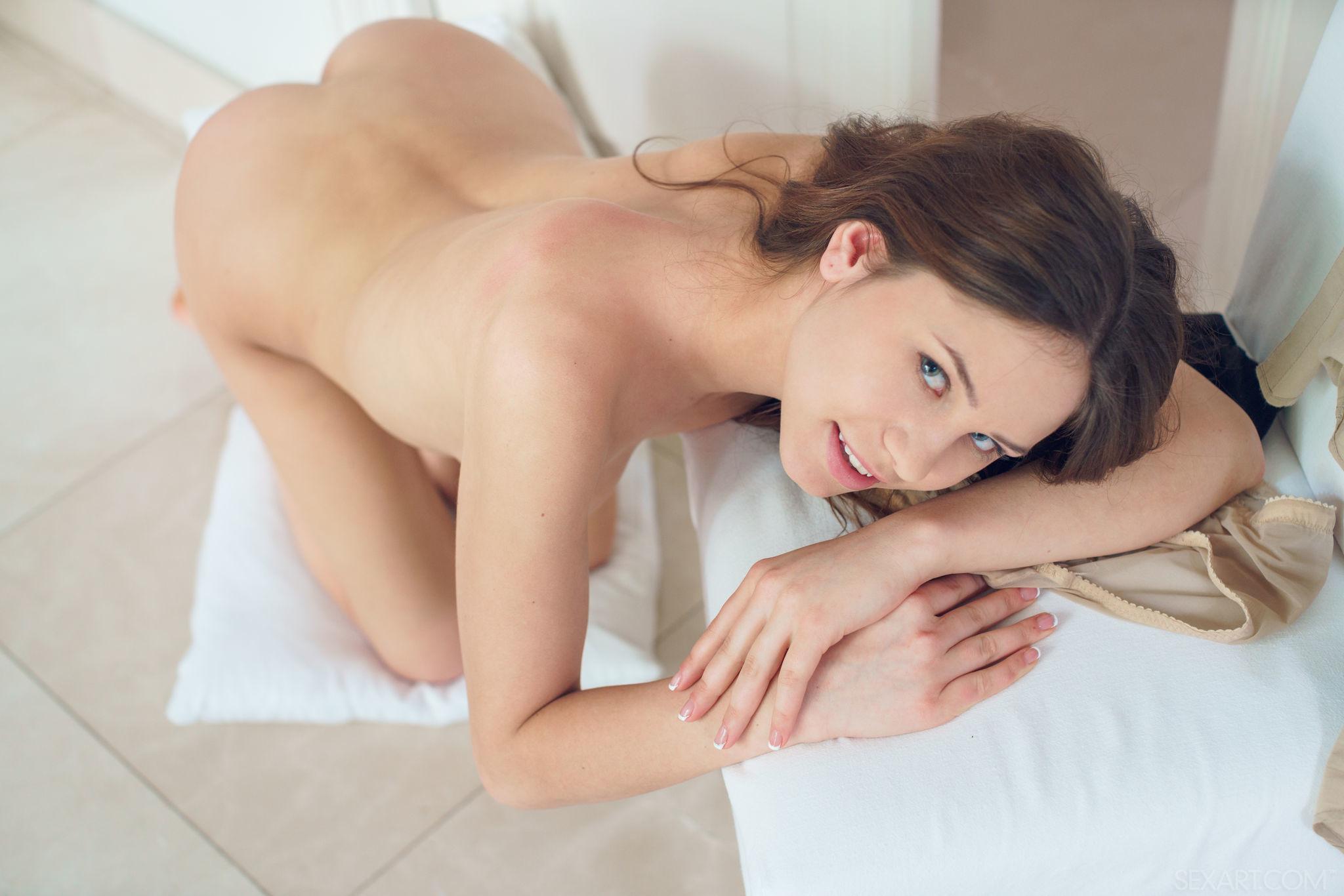 Barbara View Medira Teen Brunette Sensual Nude Posing 608113 Naked Young Babe In Black High Heels