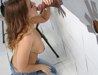 Natasha Nice With Nice Juggs First Time Trying Gloryhole 608144 Surprising Brunette Bends Sucking Good Long Cock