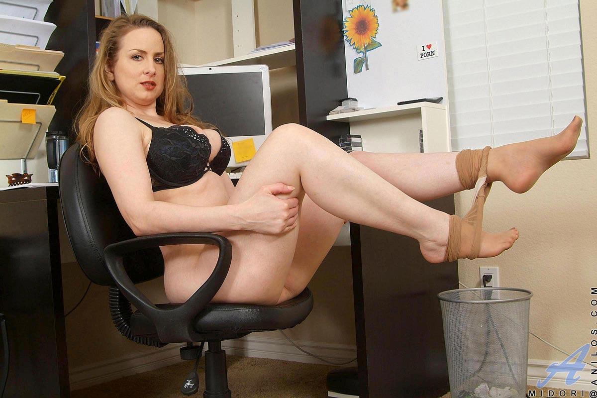 Blonde secretary spread