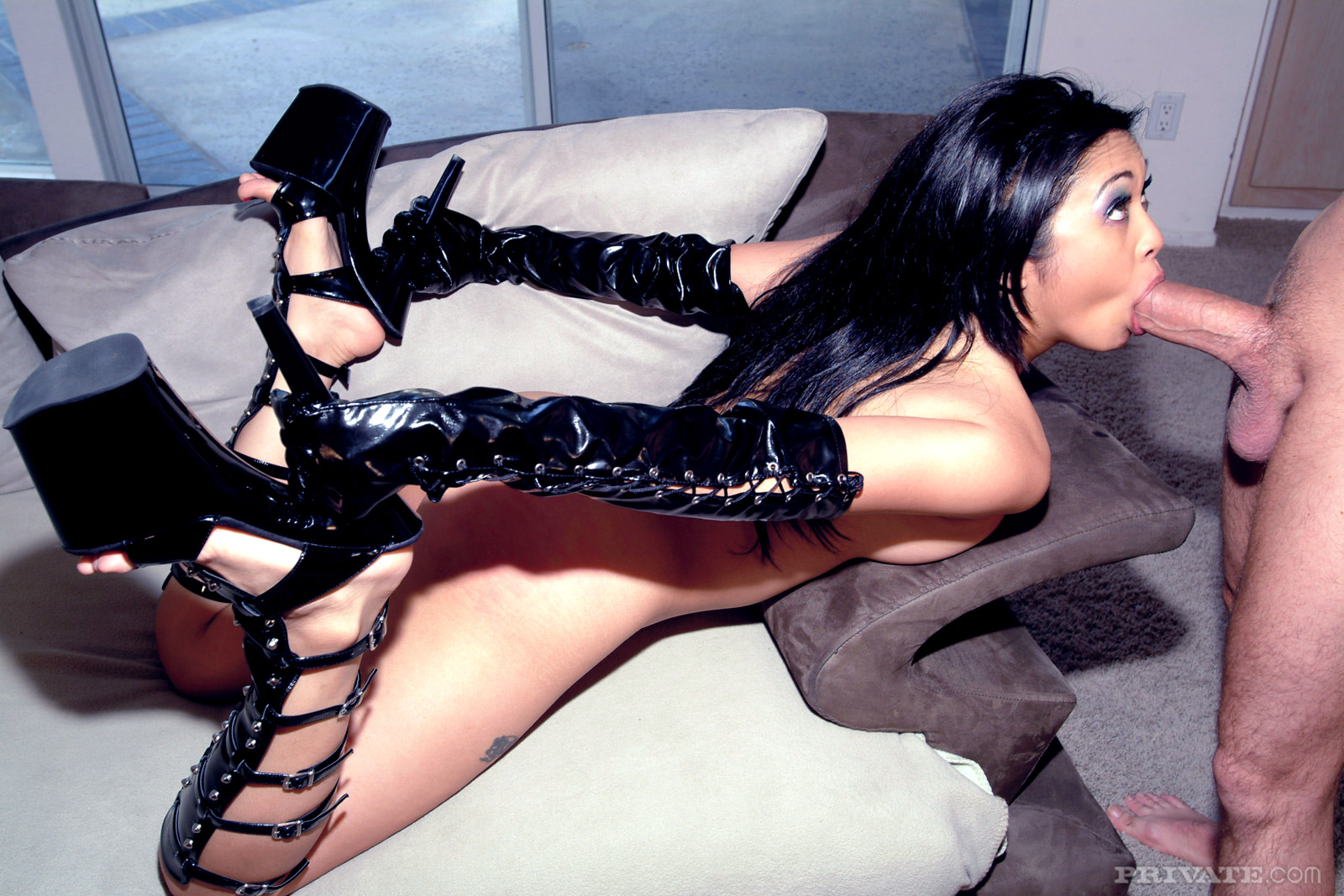 Asian Insert Heels Porn private mika tan asian fetish asian hottie in leather