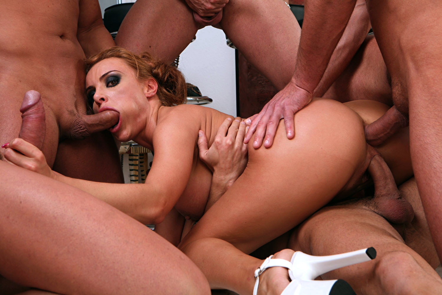 Very Nasty Anal Gangbang Whore Used By Blacks