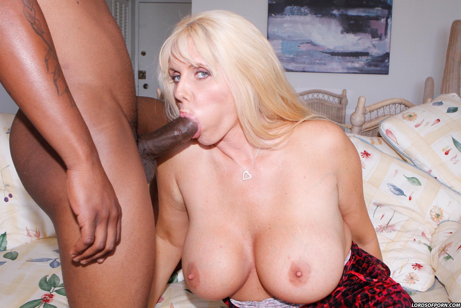 Black cock strawberry blonde huge tits