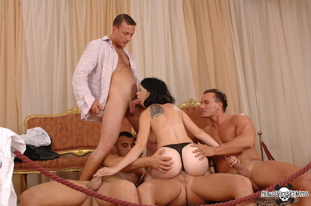 Betty sparks gangbanged getting all holes filled