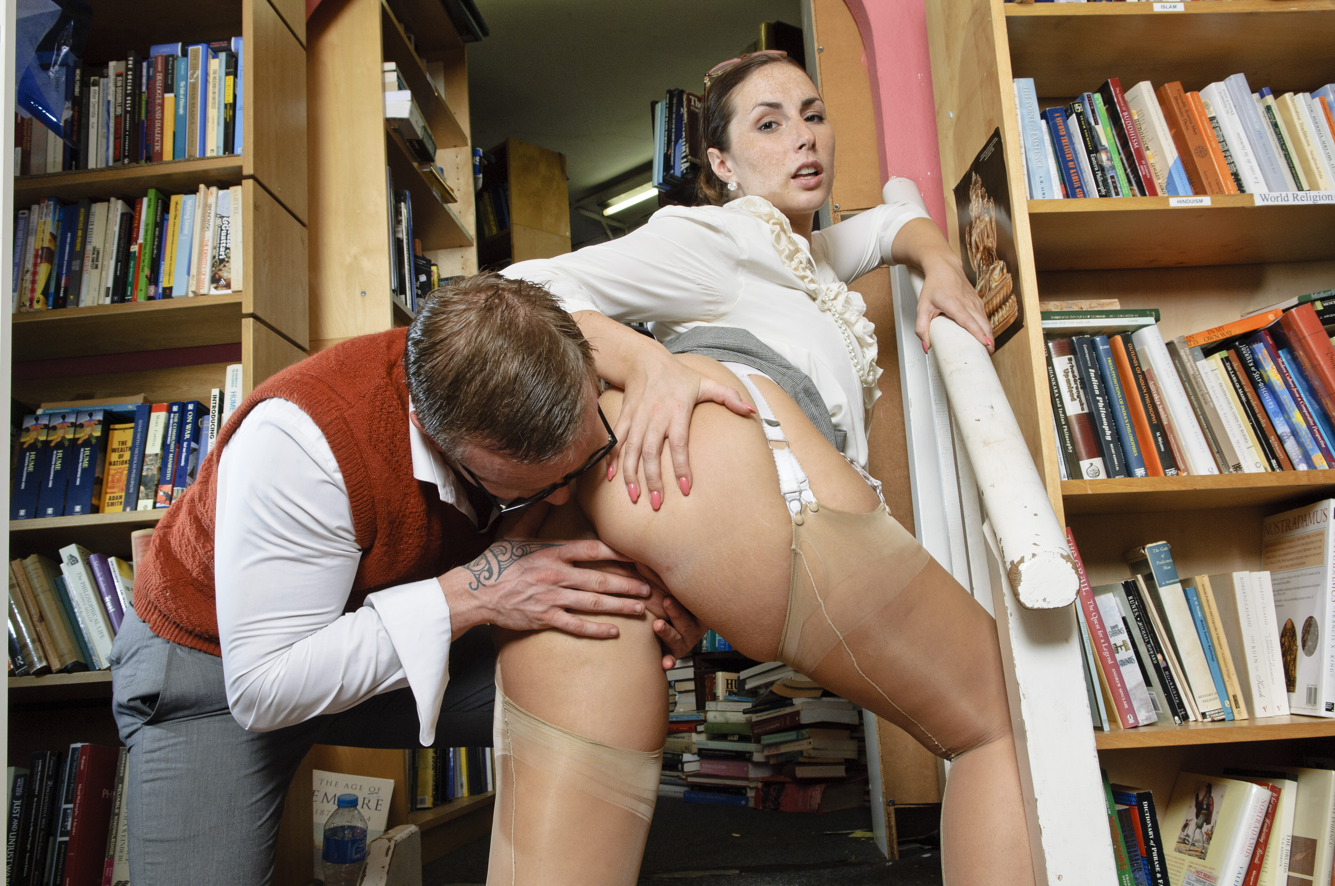 Librarian x nude free porn