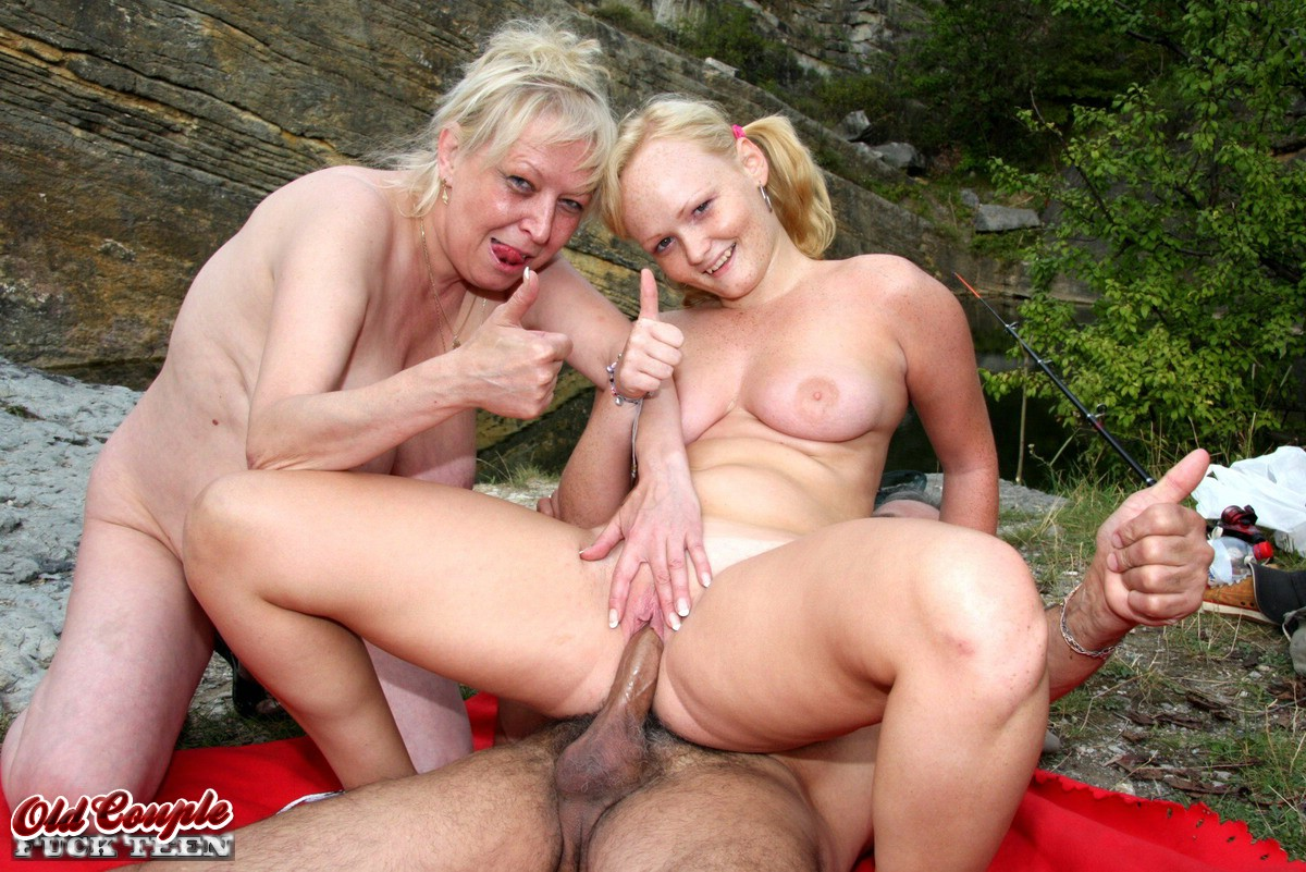 Fishing trip turns into an outdoor gangbang