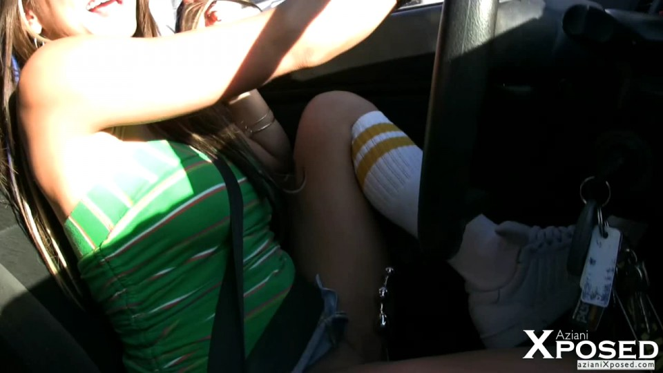 Driving car upskirt free sex pics