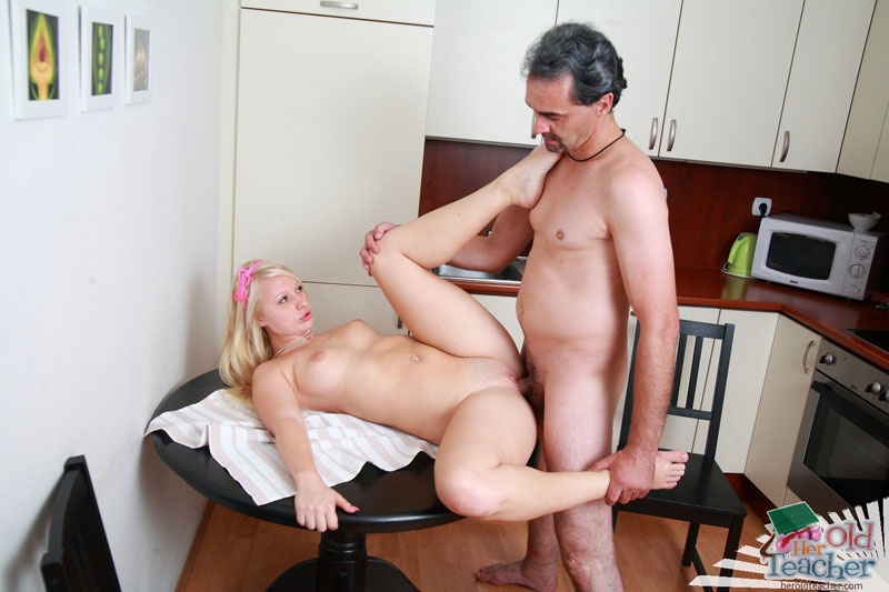 Mature teacher is seducing her student