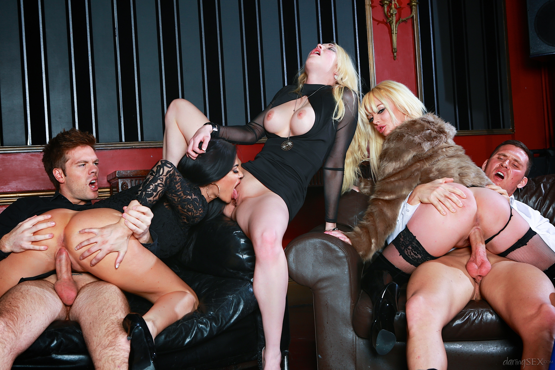 Bi party whores are fucked in sex orgy xxx